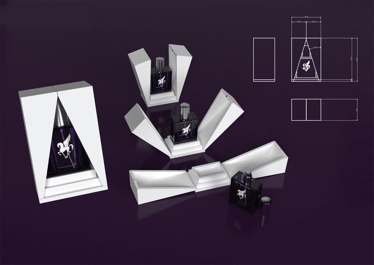 3d Visualisation Pegasus Perfume Box