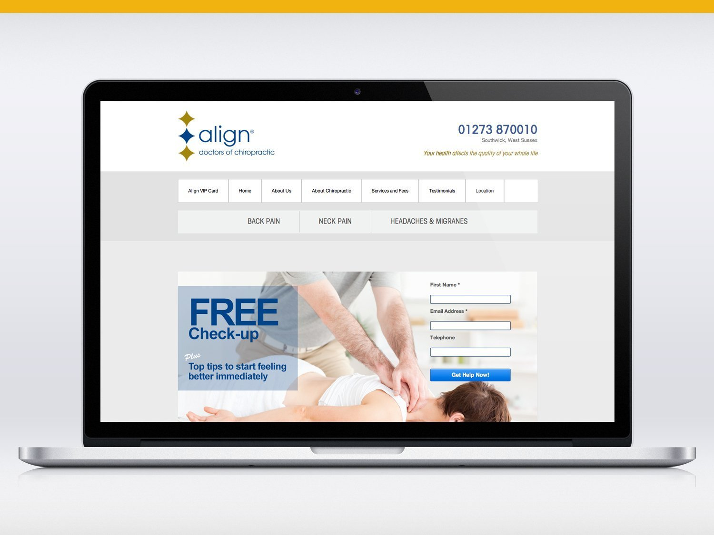 Align Doctors of Chiropractic website design
