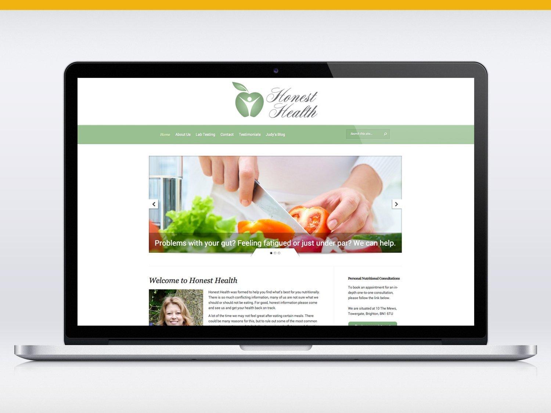 Honest Health website design