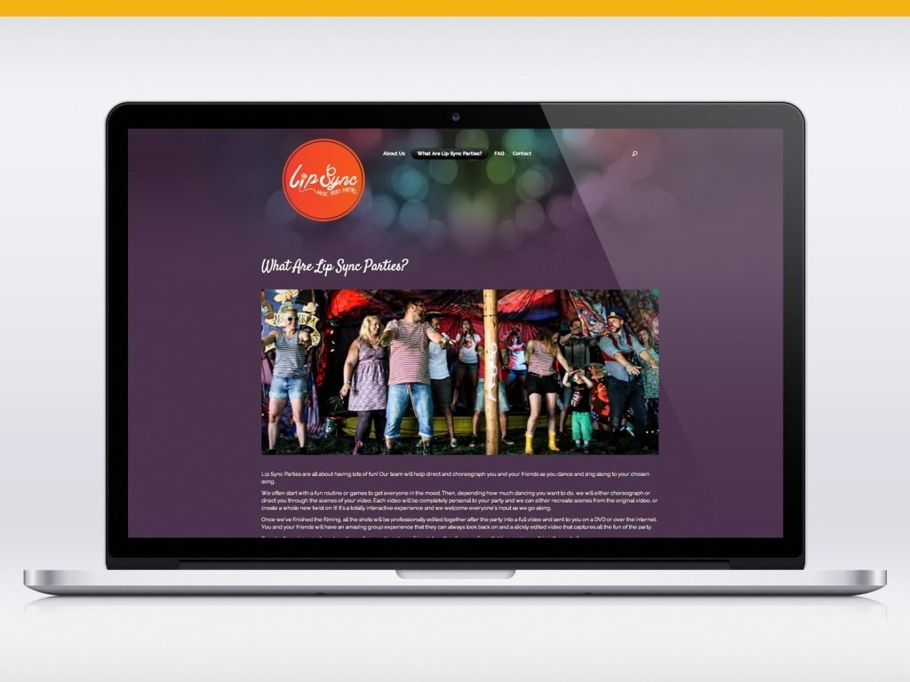 Lip Sync Parties website design