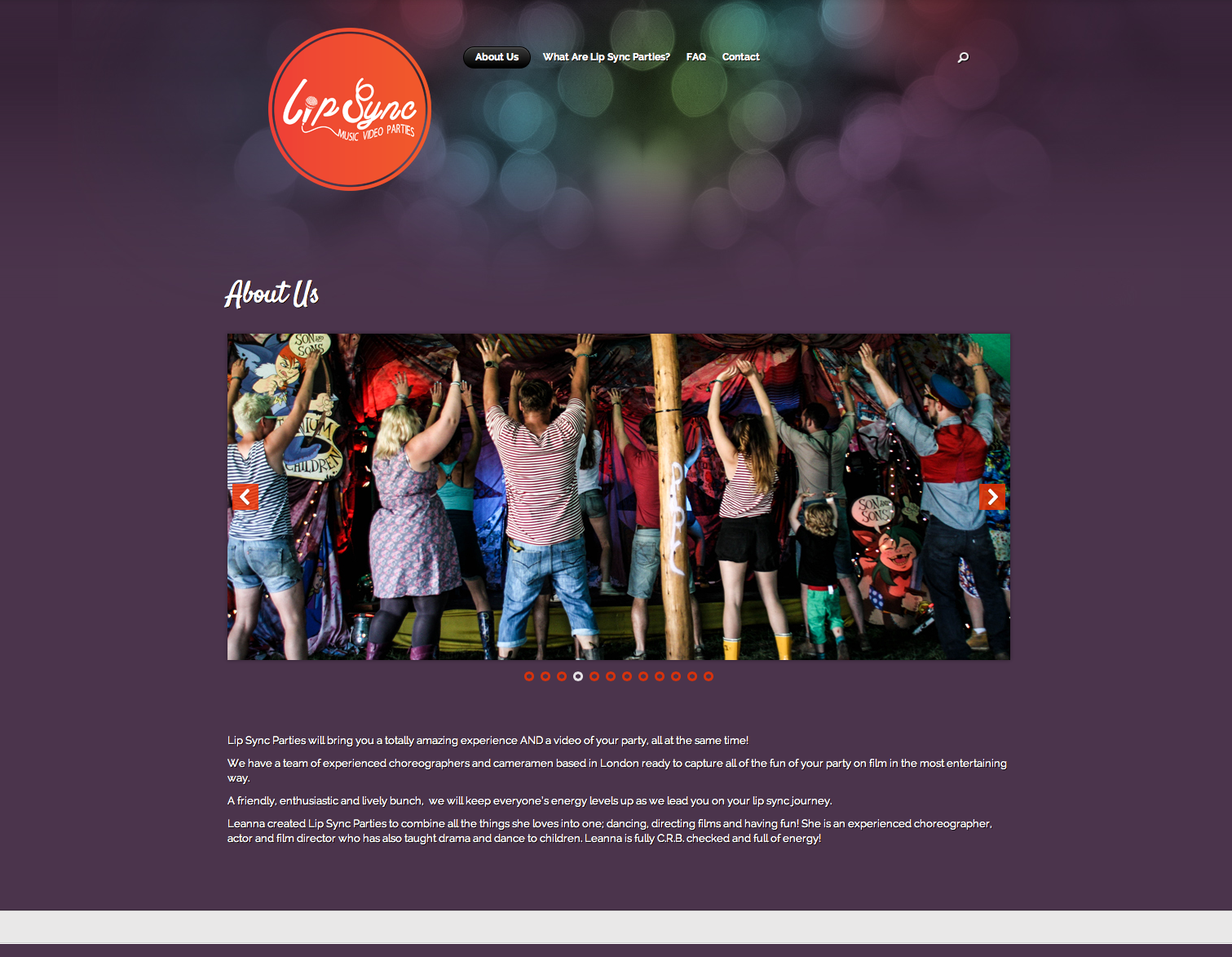 Lip Sync Parties Website