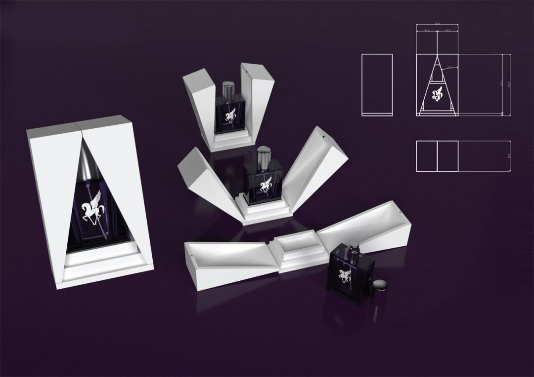 3D visualisation perfume box mock up