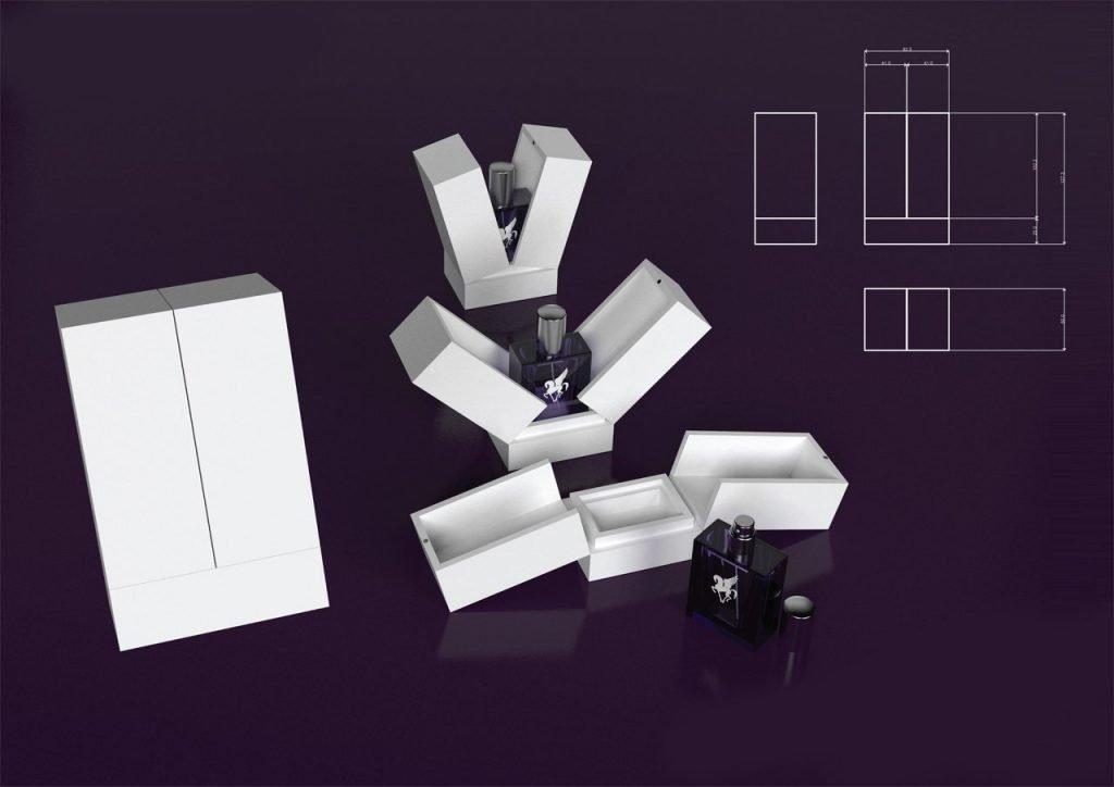 Pegasus perfume box 3D visualisation v2