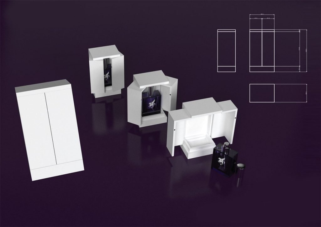 Pegasus perfume box 3D visualisation v3