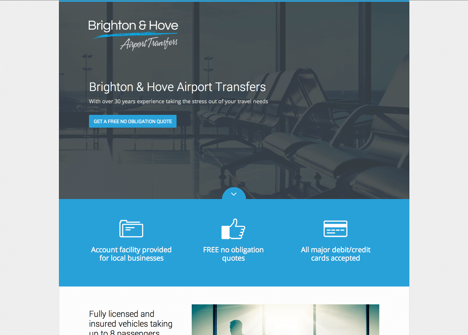 Brighton & Hove Airport Transfers website