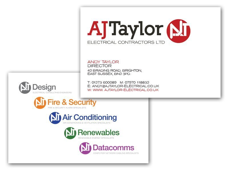 AJ Taylor Electrical Business Card Design