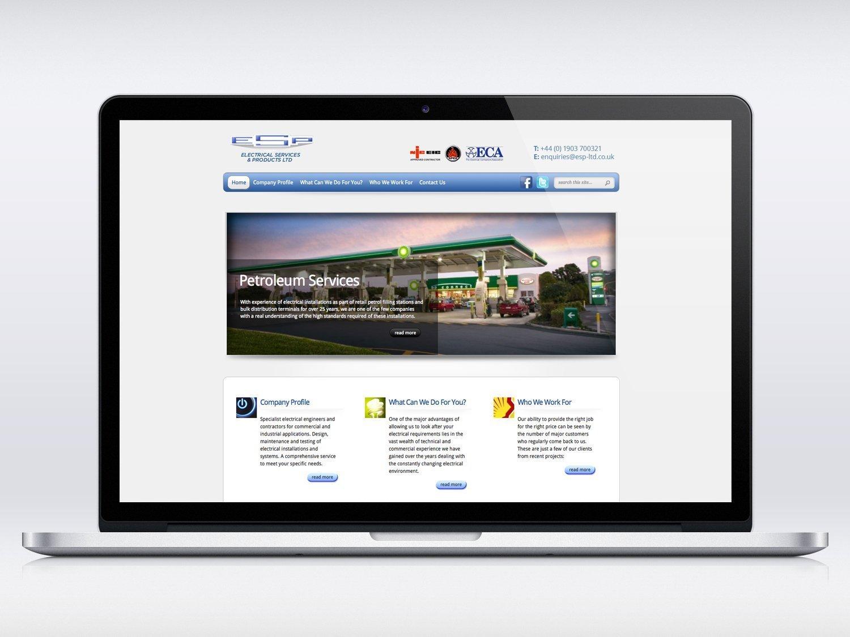 ESP Electrical website design