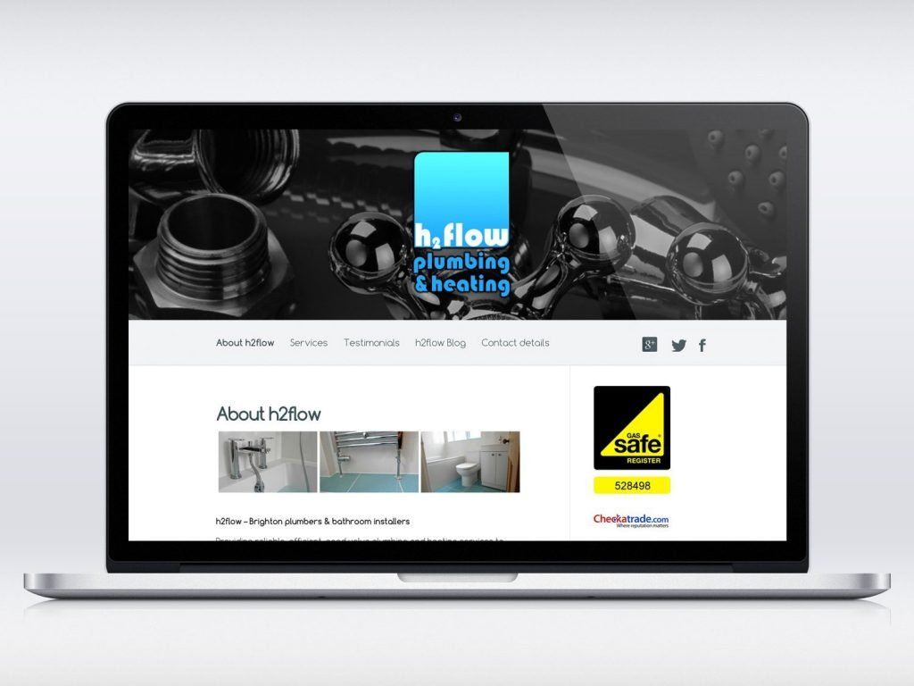 H2flow Plumbing website design