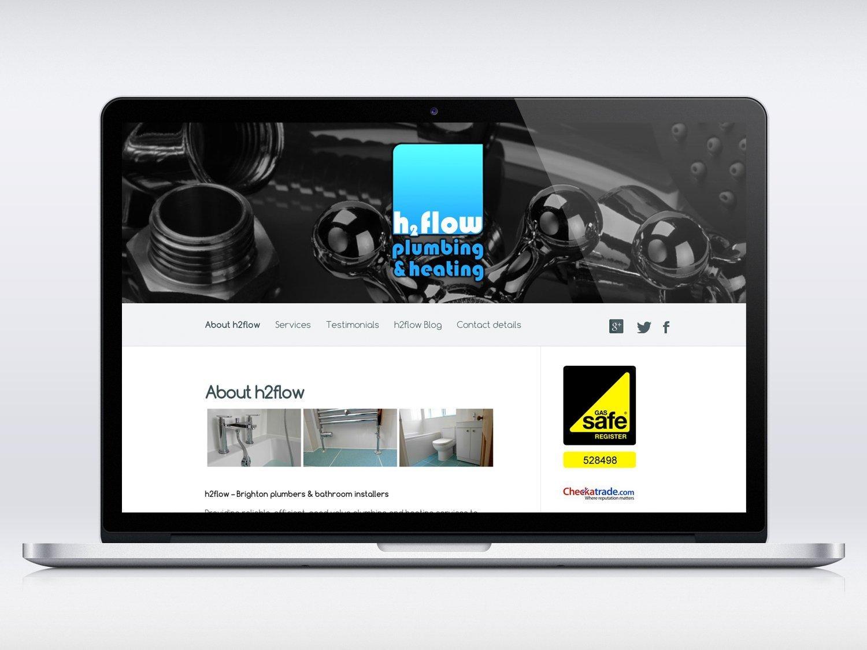 H2flow Plumbing website design